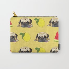 When life gives you lemons, eat more watermelon!  Pug wisdom. Carry-All Pouch