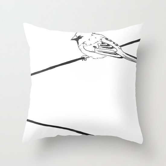 On a Wire Throw Pillow