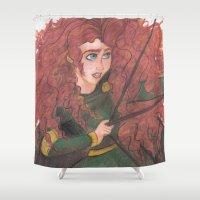 merida Shower Curtains featuring Merida by carotoki art and love