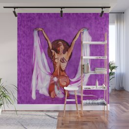 ORBS (purple) Wall Mural