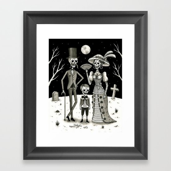 Family Portrait of the Passed Framed Art Print