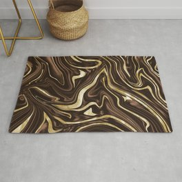 Brown Gold Marble #1 #decor #art #society6 Rug