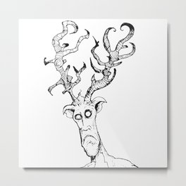 OH DEAR by the Rural Drawer Metal Print