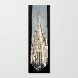 San Diego,CA LDS Temple Tie Canvas Print