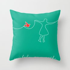 wish for new paths Throw Pillow