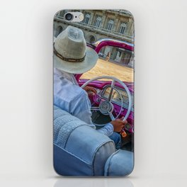 Pink taxi ride in Old Havana iPhone Skin