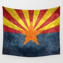 Flag of Arizona, Vintage Retro Style Wall Tapestry