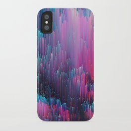 Bold Pink and Blue Glitches iPhone Case