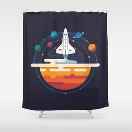 Space Shuttle & Solar System Shower Curtain