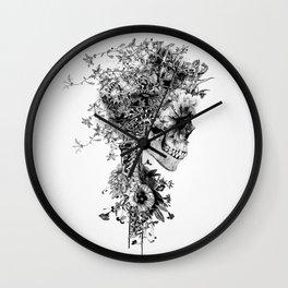 Skull BW Wall Clock