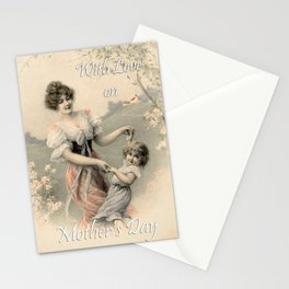 Vintage Mother's day card Stationery Cards