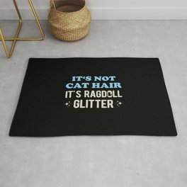 Funny Ragdoll Cat Quote Rug