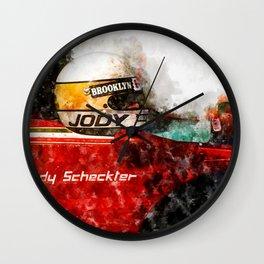 Jody Scheckter Close Wall Clock