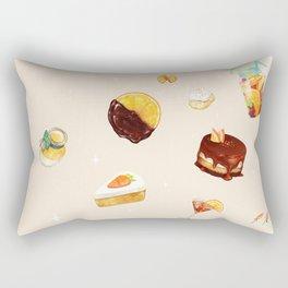 Orange Desserts Rectangular Pillow