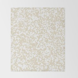 Small Spots - White and Pearl Brown Throw Blanket