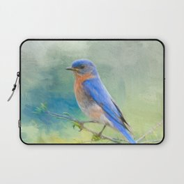 Bluebird In The Garden Laptop Sleeve