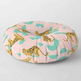 WILD CAT_PINK Floor Pillow