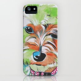 Lilybette The Morkie iPhone Case