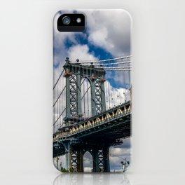 MANHATTAN BRIDGE VIEW FROM DUMBO iPhone Case