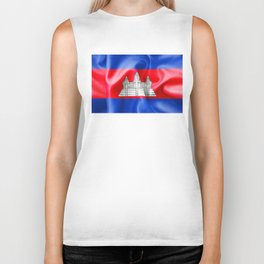 Cambodia Flag Biker Tank
