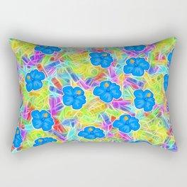 Hawaiian Blue Flowers Rectangular Pillow