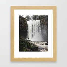 Trentham Falls raging Framed Art Print