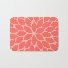 Coral Chrysanthemum Bath Mat