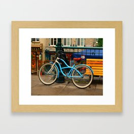 I love my blue bike Framed Art Print