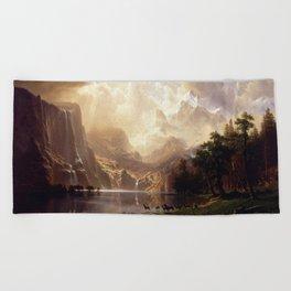 Albert Bierstadt - Among the Sierra Nevada, California Beach Towel