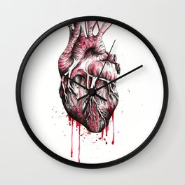 and put the heart I have laid bare Wall Clock