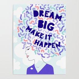 'Dream Big' Girl Power Portrait Poster