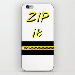 Zip it Black Yellow jGibney The MUSEUM Gifts iPhone Skin