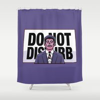 obey Shower Curtains featuring Obey! by LuisD