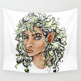 Female elf profile 1a Wall Tapestry