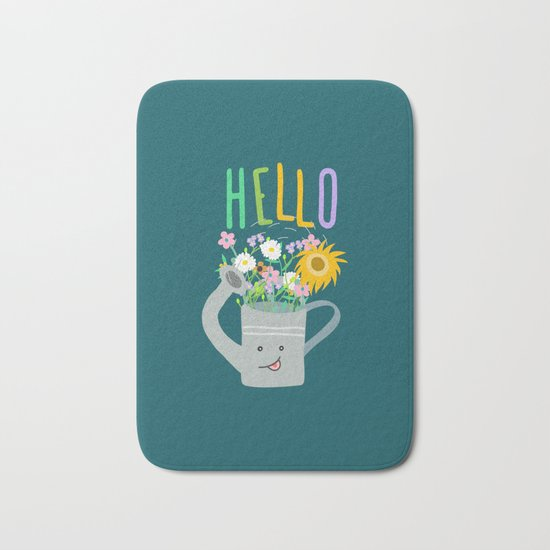 Happy Day- Watering Can Bath Mat