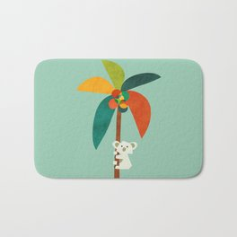Koala on Coconut Tree Bath Mat