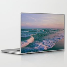 Sunset Crashing Waves Laptop & iPad Skin