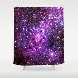 Purple Galaxy Eagle Nebula Shower Curtain