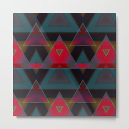 Triangle Abstract Pattern Metal Print