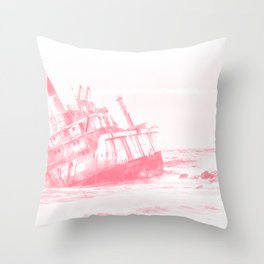 shipwreck aqrepw Throw Pillow