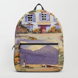 Provence France Lavender And Vines Backpack