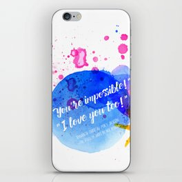 """Percy Jackson Percabeth House of Hades """"I love you too!"""" Quote iPhone Skin"""
