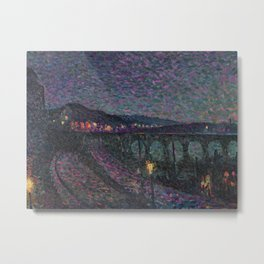 Impression Nocturne, 1893  by French Neo-impressionist artist Maximilian Luce. Metal Print