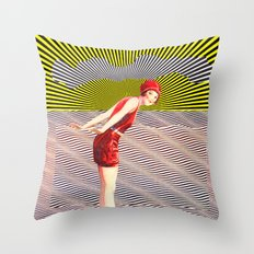 about to dive Throw Pillow