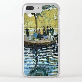 Claude Monet La Grenouillère Clear iPhone Case