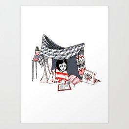 blanket fort Art Print