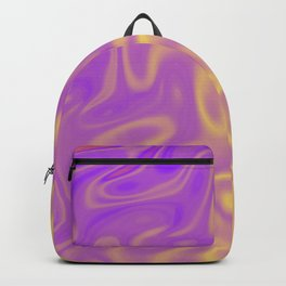 Ripples Fractal in Tropical Punch Backpack