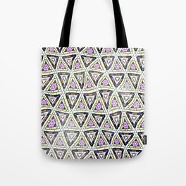 Retro distorted triangular shapes pattern Tote Bag