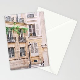 Charming Paris Street Scene Stationery Cards