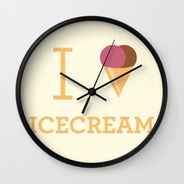 I heart Icecream Wall Clock